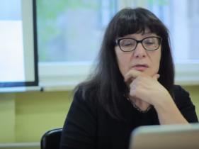 Kadr z nagrania seminarium z udziałem dr Grażyny Kubicy