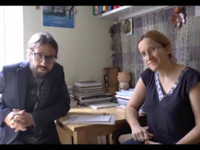 Kadr z wywiadu z dr Mateuszem Laszczkowskim