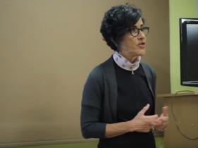 Kadr z nagrania seminarium z udziałem prof. Tamar ElOr