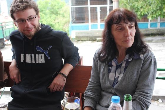 Siika Kasabova, nasza gospodyni i przewodniczka ze stacji Uniwersyteckiej w Slaveino, i Przemek Gnyszka.