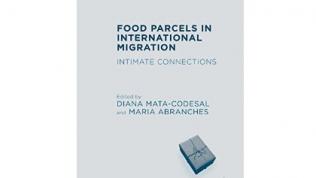"""okładka książki """"Food parcels"""" na białym tle"""