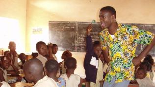 Fotografia afrykańskiej szkoły